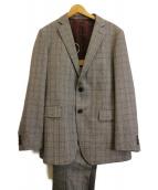 TAKEO KIKUCHI(タケオキクチ)の古着「グレンチェックセットアップスーツ」|グレー