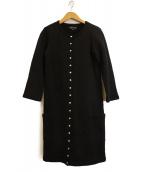 agnes b(アニエスベー)の古着「コンプレッションロングカーディガン」|ブラック