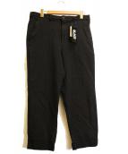 BLACK COMME des GARCONS(ブラックコムデギャルソン)の古着「ポリテーパードパンツ」 ブラック