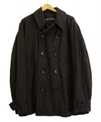 COMME des GARCONS HOMME(コムデギャルソンオム)の古着「ダブルブレステッドコート」 グレー
