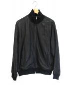 FRED PERRY(フレッドペリー)の古着「サイドラインレザージャケット」 ブラック