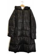 CHRISTIAN AUJARD(クリスチャン オジャール)の古着「総柄ダウンコート」 ブラック