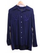 UNITED TOKYO(ユナイテッドトウキョウ)の古着「エンブロイダリーオープンカラーシャツ」|ネイビー