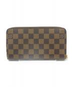 LOUIS VUITTON(ルイヴィトン)の古着「ラウンドファスナー長財布」|ブラウン