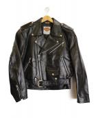 HARLEY-DAVIDSON(ハーレーダビットソン)の古着「ダブルライダースジャケット」|ブラック