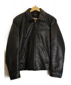HARLEY-DAVIDSON(ハーレーダビットソン)の古着「シングルライダースジャケット」|ブラック
