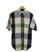 Black Fleece by BROOKS BROTHERS(ブラックフリース バイ ブルックスブラザーズ)の古着「半袖BDシャツ」|グリーン