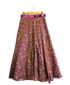 leur logette(ルールロジェット)の古着「ミニフラワースカート」 ショッキングピンク
