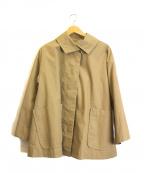 Conges payes(コンジェ ペイエ)の古着「ボリュームスリーブショートステンカラーコート」|ベージュ
