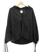 SOU・SOU(ソウソウ)の古着「リネンチャイナワイドジャケット」|ブラック