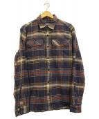 Patagonia(パタゴニア)の古着「ロングスリーブフィヨルドフランネルシャツ」 ブルー
