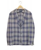 TAGLIATORE(タリアトーレ)の古着「チェックアンコンジャケット」|ブルー