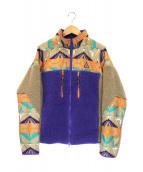 NIKE ACG×PENDLETON(ナイキエーシージー×ペンドルトン)の古着「ネイティブ柄フリースジャケット」|パープル