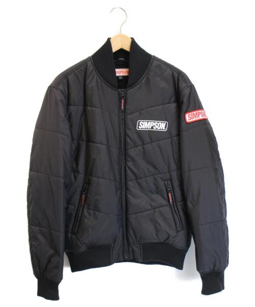 SIMPSON(シンプソン)SIMPSON (シンプソン) モーターサイクル中綿ブルゾン ブラック サイズ:Lの古着・服飾アイテム