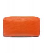 LOUIS VUITTON(ルイヴィトン)の古着「ジッピー・ウォレット」|オレンジ