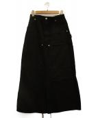 inscrire(アンスクリア)の古着「ロングデニムスカート」|ブラック