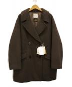 Spick and Span(スピックアンドスパン)の古着「テーラードカラーショートコート」|ブラウン