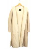 allureville(アルアバイル)の古着「ウールフードリバーコート」|ベージュ