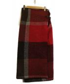FILL THE BILL×loomer(フィルザビル×ルーマー)の古着「ウールラップスカート」|ブラウン