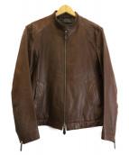 BURBERRY BLACK LABEL(バーバリーブラックレーベル)の古着「ラムレザージャケット」|ブラウン