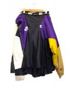 NIKE×sacai(ナイキ×サカイ)の古着「再構築スカート」|パープル