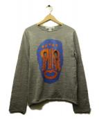 COMME des GARCONS SHIRT(コムデギャルソンシャツ)の古着「マスク柄ニット」|グレー