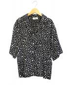 VONDEL(フォンデル)の古着「ドットオープンカラーシャツ」|ブラック