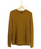 ROBERTO COLLINA(ロベルトコリーナ)の古着「畦編みクルーネックニット」 ブラウン
