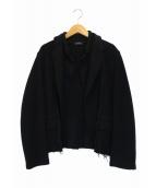 tricot COMME des GARCONS(トリコ コムデギャルソン)の古着「変形ニットジャケット」|ネイビー