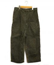 COMME des GARCONS HOMME(コムデギャルソンオム)の古着「コーデュロイ切替パンツ」|カーキ