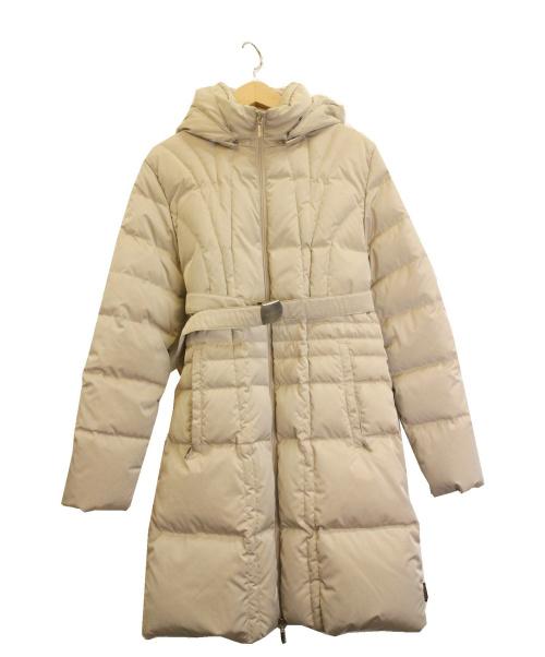 MONCLER(モンクレール)MONCLER (モンクレール) ダウンコート ベージュ サイズ:SIZE 0の古着・服飾アイテム