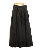 maturely(マチュアリー)の古着「マキシスカート」|ブラック