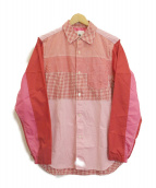 GANRYU(ガンリュウ)の古着「MIXシャツ」|レッド