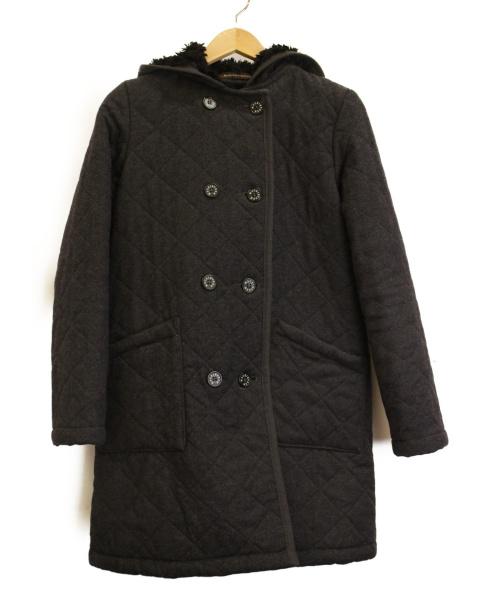 MACKINTOSH(マッキントッシュ)MACKINTOSH (マッキントッシュ) キルティングフーデッドコート グレー サイズ:SIZE 34の古着・服飾アイテム