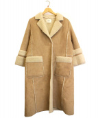 FURFUR(ファーファー)の古着「エコムートンコート」|ベージュ