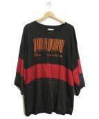 SHAREEF(シャリーフ)の古着「バーコード刺繍ビックTシャツ」|ブラック