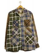 south2 west8(サウスツーウエストエイト)の古着「6ポケットシャツ」|ブルー×ブラウン