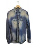 REPLAY(リプレイ)の古着「USED加工デニムシャツ」|インディゴ