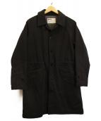 MHL(エムエイチエル)の古着「コットンシングルコート」|ネイビー