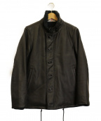 BEN DAVIS(ベン デイビス)の古着「ホースレザーN1ジャケット」|ブラック