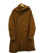 nonnative(ノンネイティブ)の古着「メルトンフーデッドコート」|ベージュ