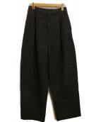 ENFOLD(エンフォルド)の古着「スーパーライトメルトンストレートセミワイドパンツ」|グレー