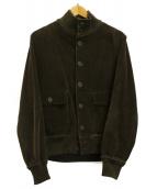 BARENA(バレナ)の古着「スタンドカラーコーデュロイジャケット」|オリーブ
