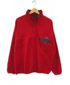 ()の古着「ハーフスナップシンチラフリースジャケット」|レッド