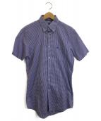 BURBERRY BLACK LABEL(バーバリーブラックレーベル)の古着「ボタンダウンシャツ」|スカイブルー