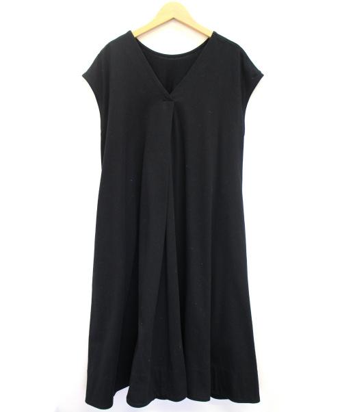 MACPHEE(マカフィー)MACPHEE (マカフィ) コットンジャージー 2-wayワンピース ブラック サイズ:36の古着・服飾アイテム