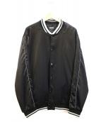 RIPNDIP(リップンディップ)の古着「ビッグシルエットバックプリントスタジャン」|ブラック