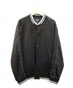 RIPNDIP(リップンディップ)の古着「ビッグシルエットバックプリントスタジャン」 ブラック