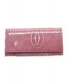 Cartier(カルティエ)の古着「長財布」 ピンク