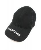 BALENCIAGA(バレンシアガ)の古着「ロゴベースボールキャップ」 ブラック